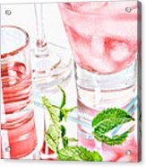 Pink Cocktails Acrylic Print by HD Connelly
