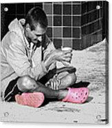 Pink Crocks Acrylic Print by Don Durfee
