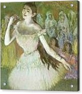 Pink Dancer  Acrylic Print by Edgar Degas