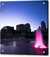 Pink Fountain Acrylic Print