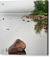 Pink Granite In Jordan Pond At Acadia Acrylic Print by Steve Gadomski