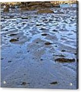 Pink Granite Island In Low Tide Acrylic Print