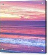 Pink Ocean Sunrise Acrylic Print
