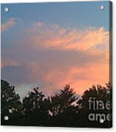 Pink Puffy Clouds Acrylic Print