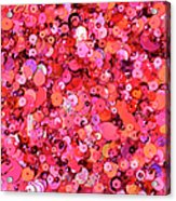 Pink Sequins Of Various Shapes And Sizes Acrylic Print