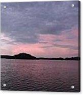 Pink Sky Lake Acrylic Print