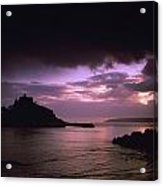 Pink Sky Over St. Michaels Mount Acrylic Print