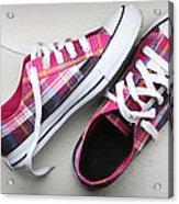 Pink Sneakers Acrylic Print