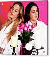 Pink Spa Sisters Acrylic Print