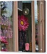Pink Storefront Acrylic Print