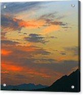 Pinnacle Peak Sunset Acrylic Print