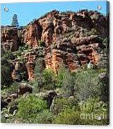 Pinnacles Rock Face Photograph Acrylic Print