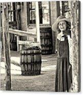 Pioneer Lady Acrylic Print