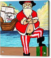 Pirate Santa Acrylic Print