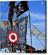 Pirate Ship With Target Acrylic Print by Garry Gay