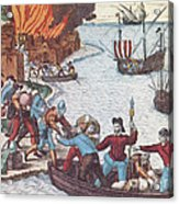 Pirates Burn Havana, 1555 Acrylic Print by Photo Researchers