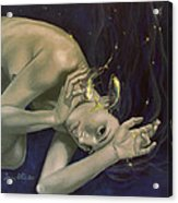 Pisces From Zodiac Series Acrylic Print by Dorina  Costras
