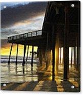 Pismo Pier Sunset IIi Acrylic Print