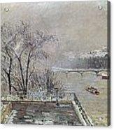 Pissarro: Louvre, 1902 Acrylic Print