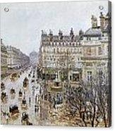 Pissarro: Theatre Francais Acrylic Print