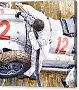 Pit Stop German Gp 1939 Mercedes Benz W154 Rudolf Caracciola Acrylic Print