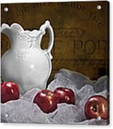 Pitcher With Apples Still Life Acrylic Print