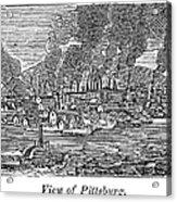 Pittsburgh, 1836 Acrylic Print