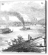 Pittsburgh, 1853 Acrylic Print