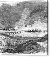 Pittsburgh: Fire, 1845 Acrylic Print