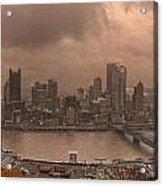 Pittsburgh Skyline 1 Acrylic Print by Wade Aiken