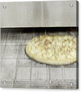 Pizza Coming Out Of The Oven Acrylic Print by Magomed Magomedagaev