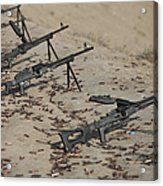 Pk Machine Guns And Spent Cartridges Acrylic Print