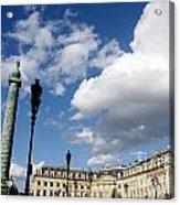 Place Vendome. Paris. France. Acrylic Print