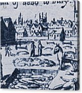 Plague, 1665 Acrylic Print