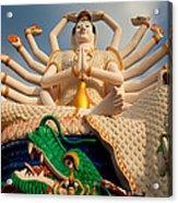 Plai Laem Buddha Acrylic Print