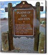 Plains Of San Agustin Acrylic Print