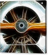 Plane Wood And Chrome Acrylic Print