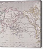 Planispheric Map Of The World Acrylic Print