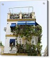 Plant Covered House In Triana Seville Acrylic Print