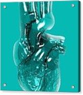 Plastic Artificial Heart, Artwork Acrylic Print