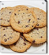 Plate Of Chocolate Chip Cookies Acrylic Print