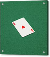 Playing Cards - Ace Of Hearts Acrylic Print