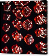 Playing Dice Being Rolled Acrylic Print