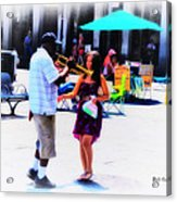 Playing For A Pretty Girl - New Orleans Acrylic Print