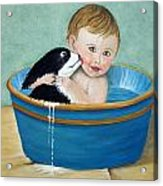 Playing In The Tub Acrylic Print