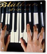Playing The Piano. Acrylic Print by Damien Lovegrove