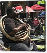 Playing The Tuba _ New Orleans Acrylic Print