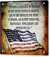 Pledge Acrylic Print