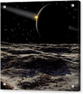 Pluto Seen From The Surface Acrylic Print