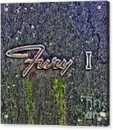 Plymouth Fury Logo Acrylic Print